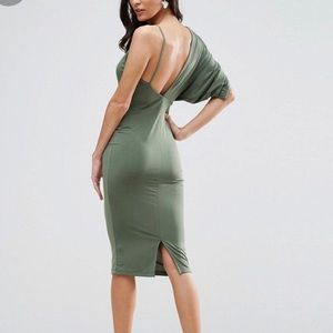 Body con dress olive green